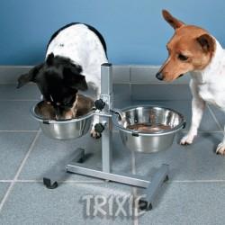 Stojan na psí misky - stejná výška misek