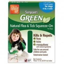 Spot On Sergeanťs Green antiparazitní kapky pro psy do 12 kg