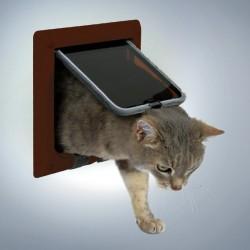 Průchozí dvířka pro kočky FreeCat Classic, hnědá