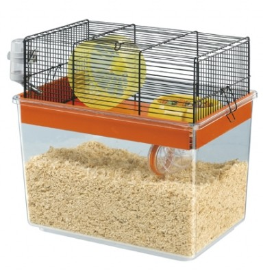Klec + skleněný box pro hlodavce GABRY 50