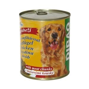 DIBAQ PET konzerva drůbeží masové kousky