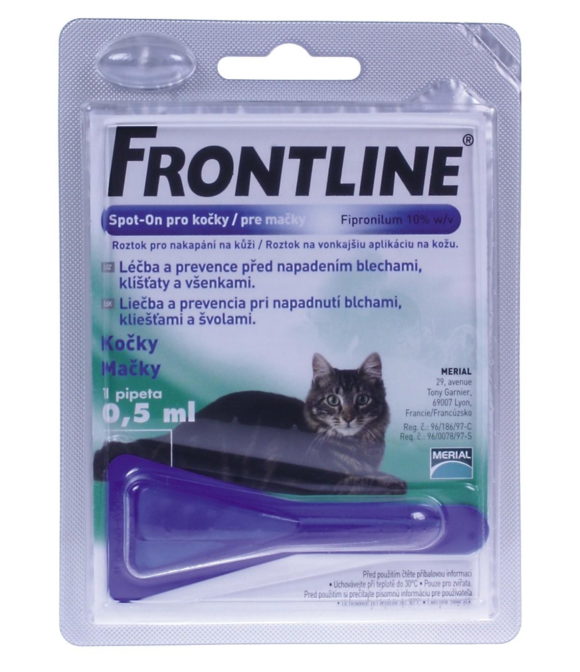 Spot On FRONTLINE antiparazitní kapky pro kočky