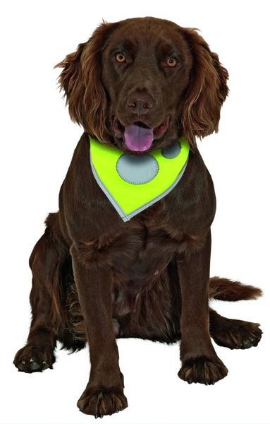 Šátek pro psa SAFETY Dog reflexní s tlapkou