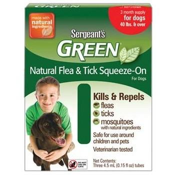 Spot On Sergeanťs Green antiparazitní kapky pro psy nad 30 kg