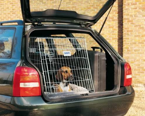 Klec do auta skosená DOG RESIDENCE 76 x 53 x 61 cm