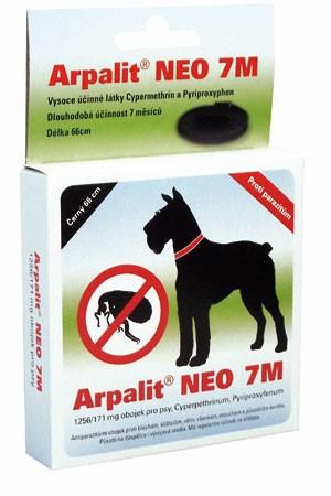 Antiparazitní obojek ARPALIT NEO 7M, 66 cm, hnědý