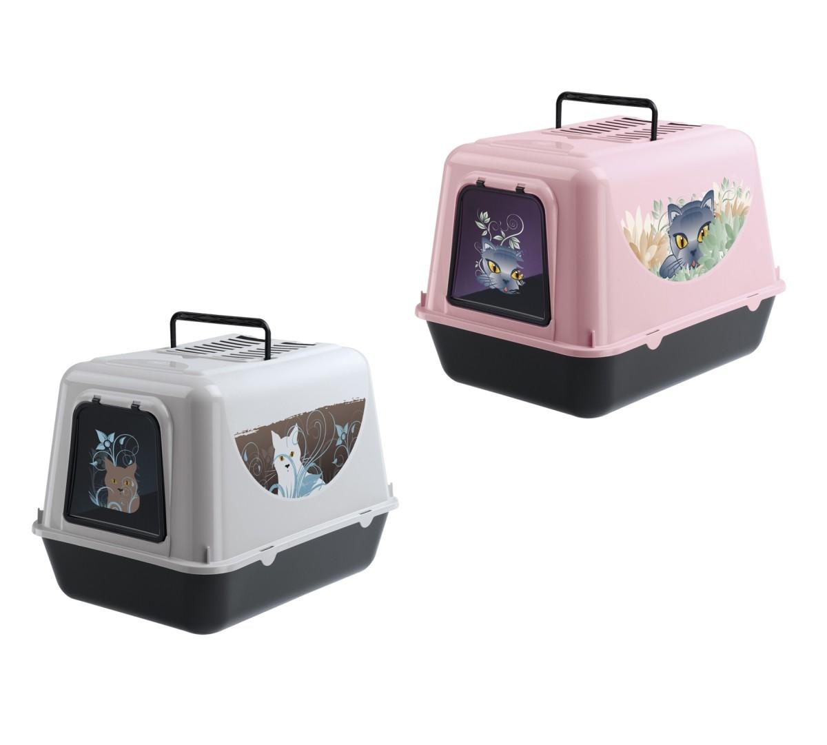 WC pro kočku PRIMA decor s krytem