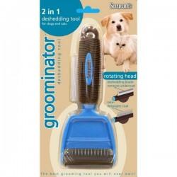 Groominátor 2v1 hrablo + vyčesávač pro psy a kočky