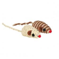 Myš sisalová s kuličkami hračka pro kočku