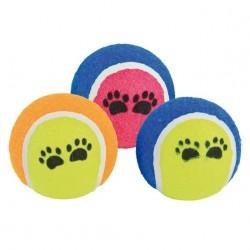 Míč tenisák s tlapkami, hračka pro psa