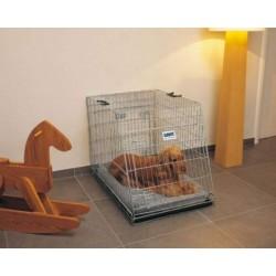 Transportní klec kovová skosená DOG RESIDENCE, 91 x 61 x 71 cm